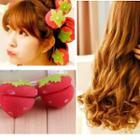 Strawberry Foam Hair Curlers