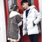 Couple Matching Hooded Padded Panel Coat