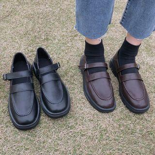 Buckled Strap Mary Jane Loafers