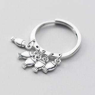 925 Sterling Silver Fish Open Ring 925 Sterling Silver - Ring - One Size