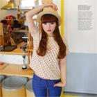 Short-sleeve Polka-dot Top