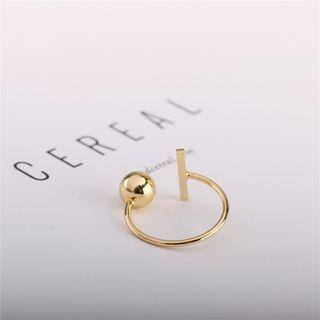 Alloy Geometric Open Ring Gold - One Size