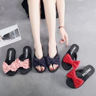 Bow Applique Flip-flops