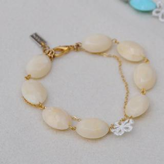 Lace Flower Beads Bracelet(white)