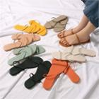 Double-strap Slippers In 8 Colors