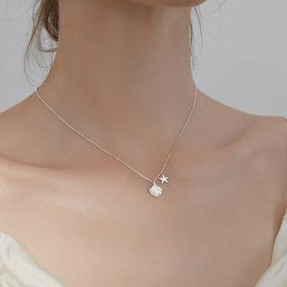 Rhinestone Star Shell Necklace