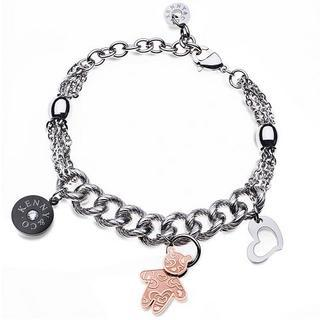 Kenny & Co. Logo Rose Gold Color Sweetheart Kenny Bear Bracelet Rose Gold - One Size