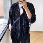 Sequin Strappy Shirt
