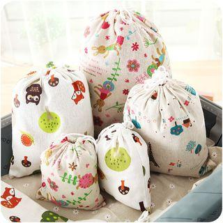 Drawstring Printed Pouch