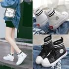 High-top Faux-leather Sneakers