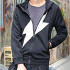 Flash Print Hooded Zip Jacket