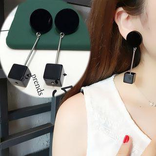 Cube Drop Earrings