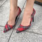 Tartan-plaid Pointy Stilettos