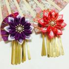 Flower Accent Fringed Hair Comb