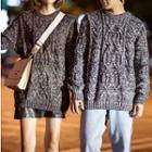 Couple Matching Cable-knit Chunky Sweater