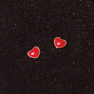 Heart Earring 1 Pair - Earrings - One Size