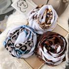 Leopard Print Linen Cotton Scarf