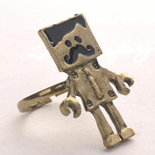 Vintage Robot Ring - Copper Copper - One Size