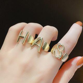 Alloy Alphabet Open Ring
