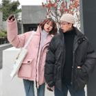 Couple Matching Applique Padded Coat