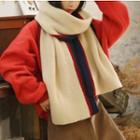 Contrast Trim Scarf As Shown In Figure - One Size