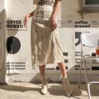 Laced Velvet Long Skirt