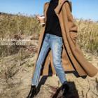 Handmade Wool Blend Hooded Coat