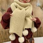 Bobble Chenille Knit Scarf