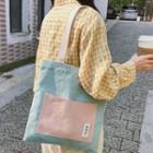 Color Matching Shoulder Bag