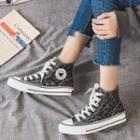 Leopard Print Canvas Sneakers