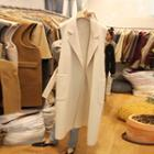 Sleeveless Open Front Long Coat