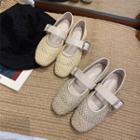 Buckled Woven Flats