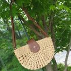Rattan Shoulder Bag Brown - One Size