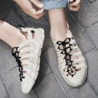 Lace Up Rubber Sneakers