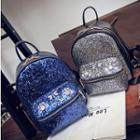 Glitter Faux Leather Backpack