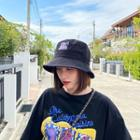 Letter Embroidery Bucket Hat