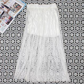 Lace Inset Skirt