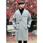 Buckled-trim Long Coat