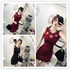 Heart Cutout Sleeveless Dress