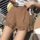 Frilled Wide-leg Shorts