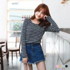 Dots Striped Top