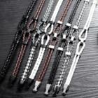Braided Leather Layered Bracelet