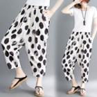 Dotted Cropped Harem Pants