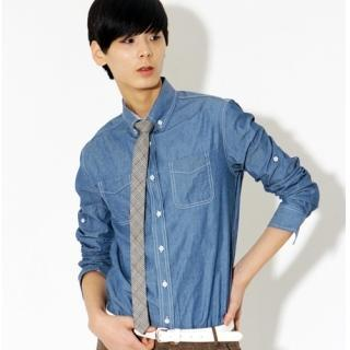 Tab-sleeve Denim Shirt