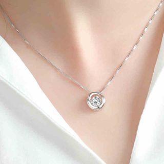 925 Silver Rhinestone Necklace