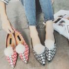 Pompom Pointy Toe Flats
