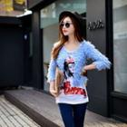 Sequined Boucle Cardigan