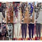 Printed Chiffon Harem Pants