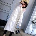 Faux Fur Trim Hooded Long Padded Jacket