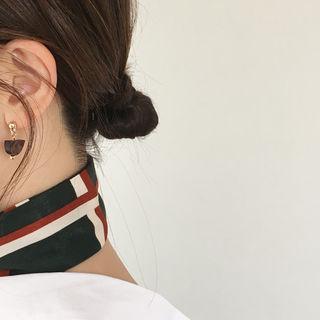 Wood Metallic Earrings